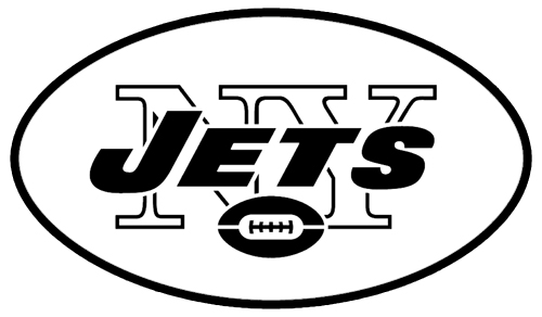 Free coloring pages of jets logo for Jets logo coloring page